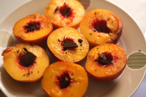chocolate nectarines and peaches