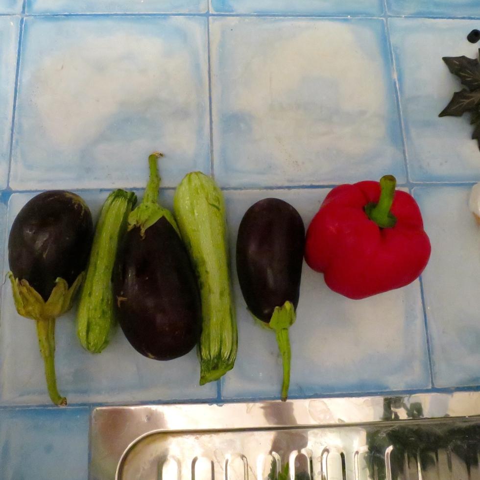 veggies in line